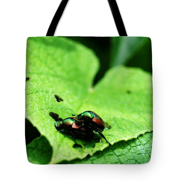 Tote Bag featuring the photograph Love Bugs by W And F Kreations