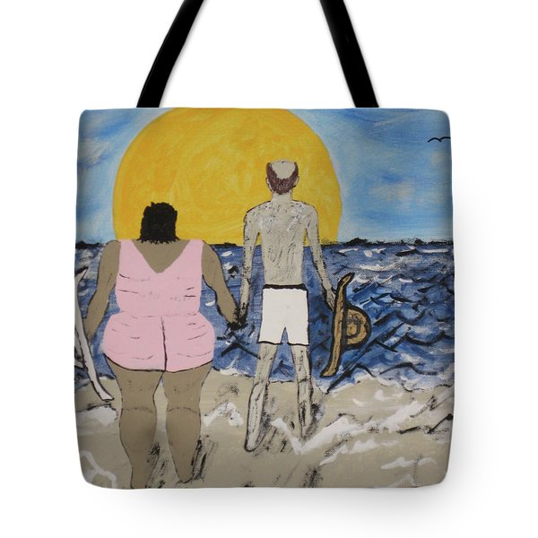 Tote Bag featuring the painting Love Comes In All Sizes by Jeffrey Koss