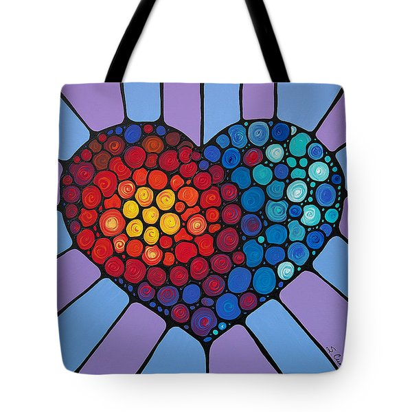 Love Conquers All Tote Bag by Sharon Cummings