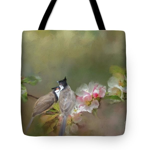 Love Couple Tote Bag by Eva Lechner