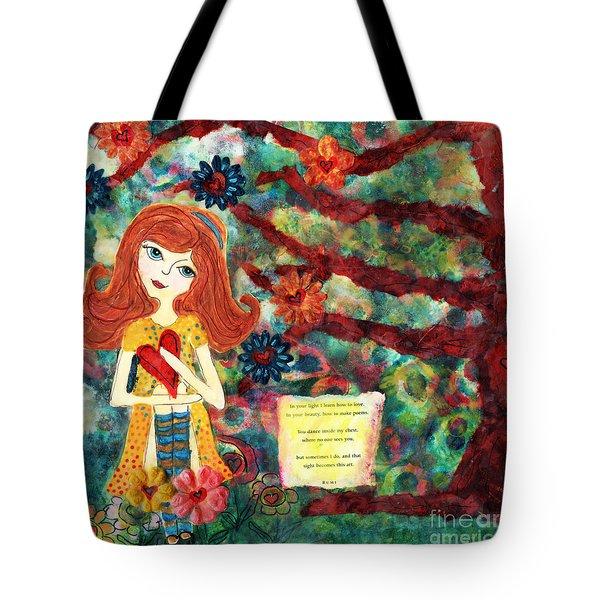 Love Creates Art Tote Bag