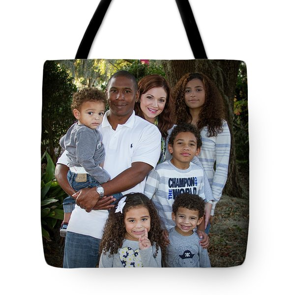 Tote Bag featuring the photograph Love Demonstrated James Ingram Family Art by Reid Callaway