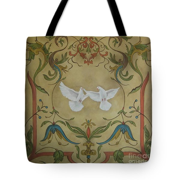 Love Doves Tote Bag by Jindra Noewi