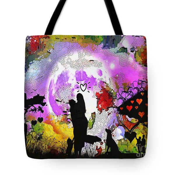 Love Family And Friendship In The Mix Tote Bag