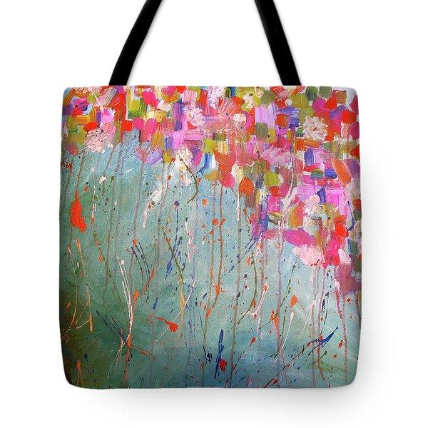 Love Flower Mountain Tote Bag