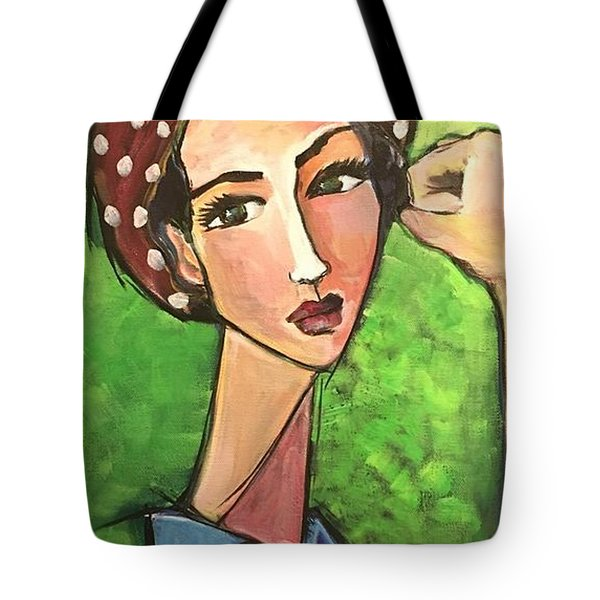 Tote Bag featuring the painting Love For Riveters by Laurie Maves ART