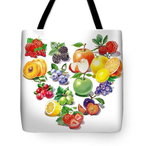 Love Fruits And Berries Tote Bag