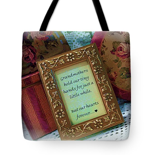Love Holds Our Hearts Forever Tote Bag