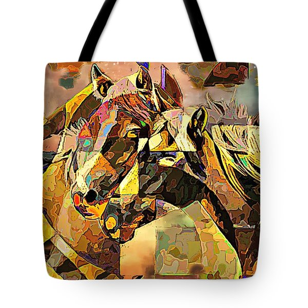 Love Horses Tote Bag by Lynda Payton