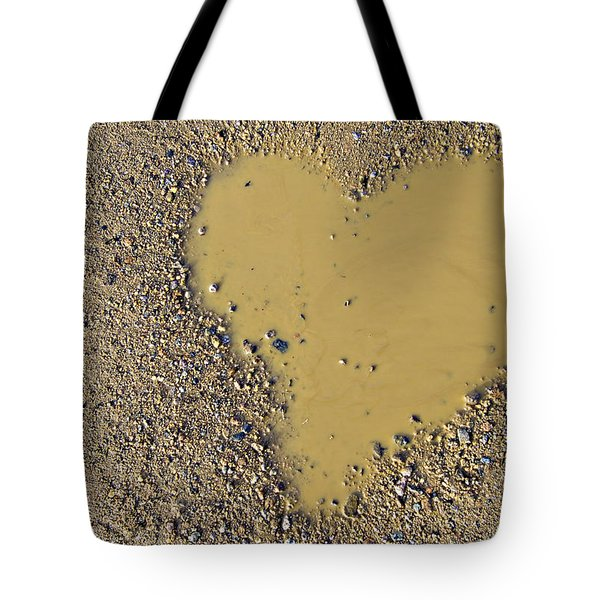 Love In A Muddy Puddle Tote Bag by Meirion Matthias