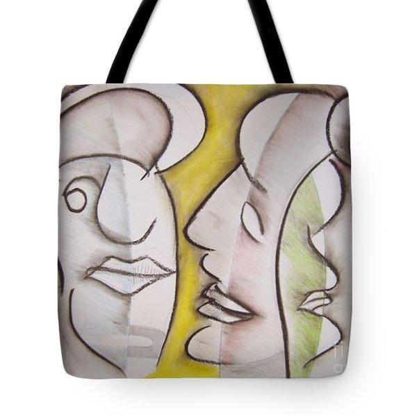 Love In Between Tote Bag
