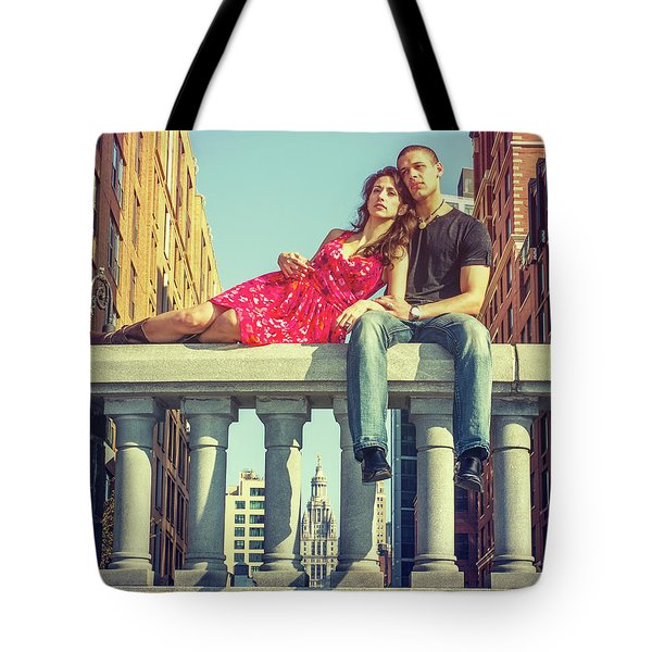 Love In Big City Tote Bag