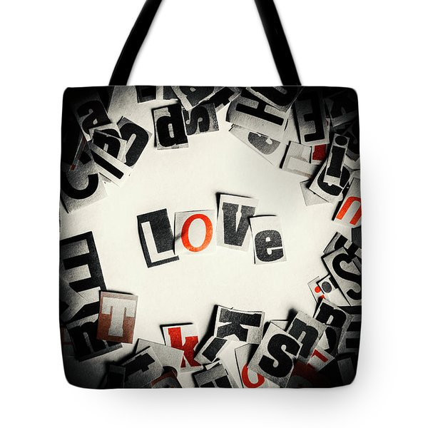 Love In Letters Tote Bag