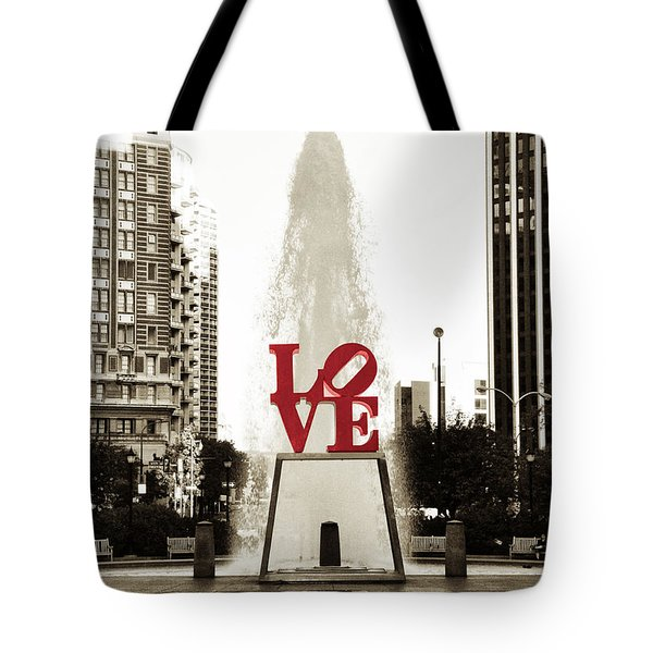 Love In Philadelphia Tote Bag by Bill Cannon