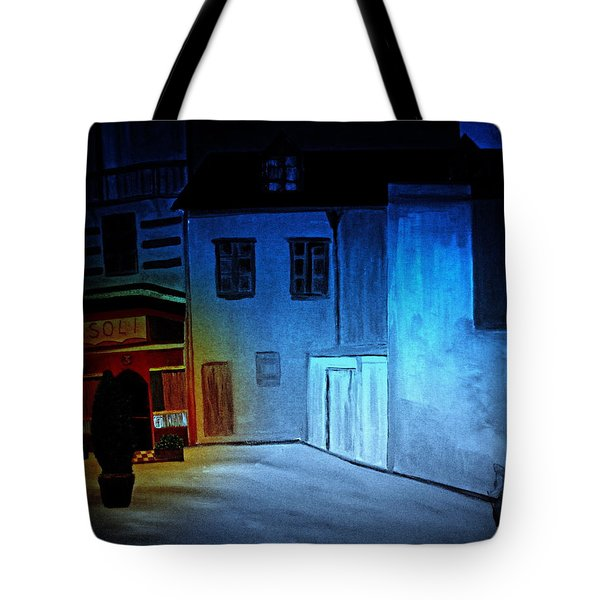 Tote Bag featuring the painting Love In San Fele by Bill OConnor