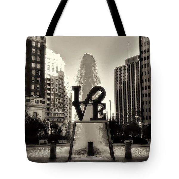 Love In Sepia Tote Bag by Bill Cannon