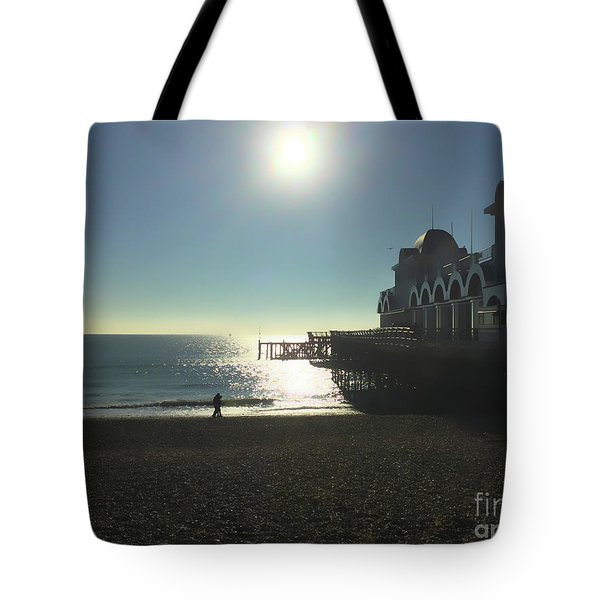 Love In Southsea Tote Bag by Andrew Middleton