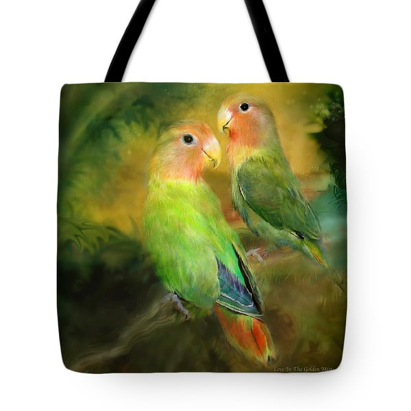 Love In The Golden Mist Tote Bag
