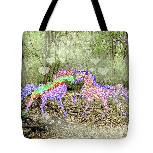 Love In The Magical Forest Tote Bag by Rosalie Scanlon