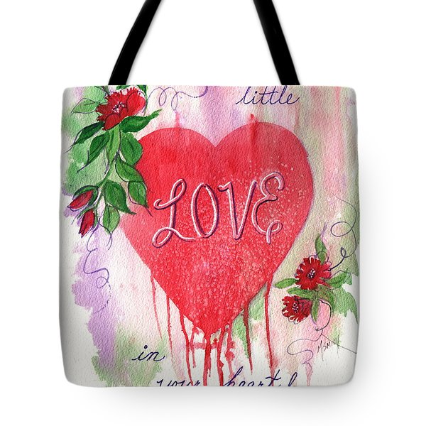Tote Bag featuring the painting Love In Your Heart by Marilyn Smith