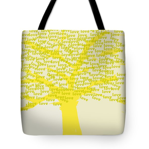 Tote Bag featuring the painting Love Inspiration Tree by Go Van Kampen