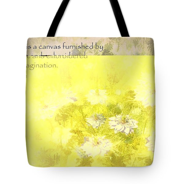Love Is A Canvas - Nigella Damascena Tote Bag