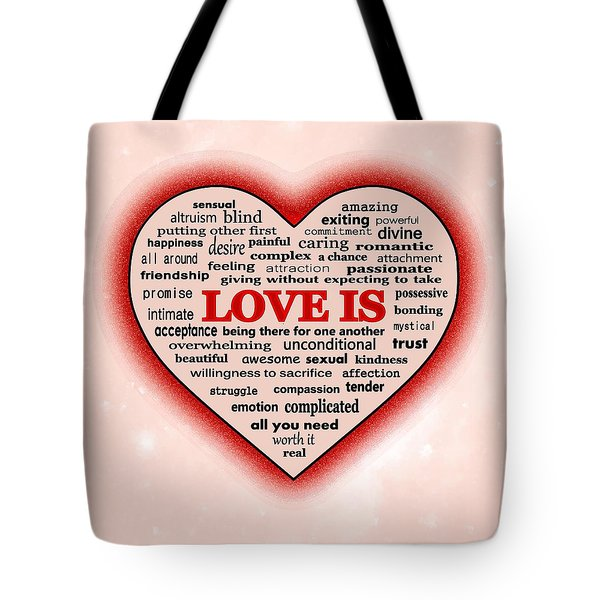 Tote Bag featuring the digital art Love Is by Anastasiya Malakhova