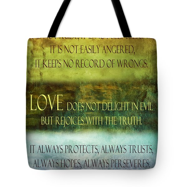 Tote Bag featuring the digital art Love Is  by Angelina Vick