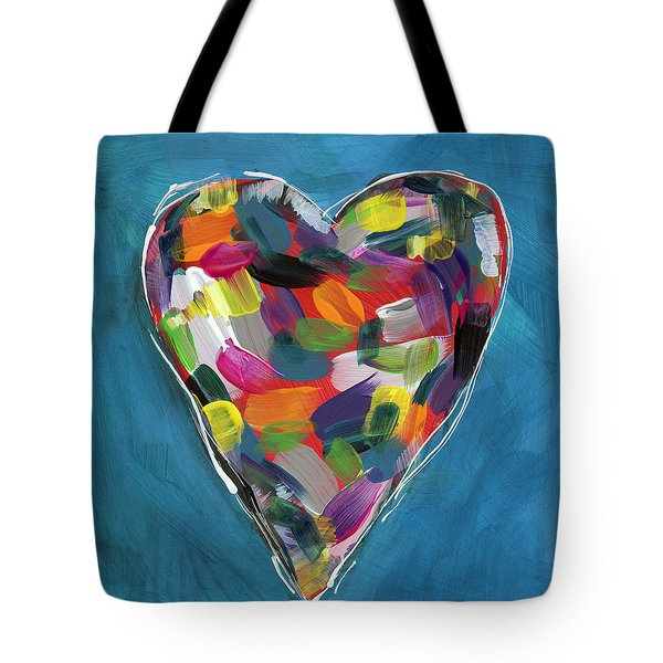 Love Is Colorful In Blue- Art By Linda Woods Tote Bag