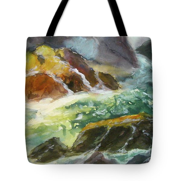 Love Is Cruel Amidst The Raging Sea Tote Bag
