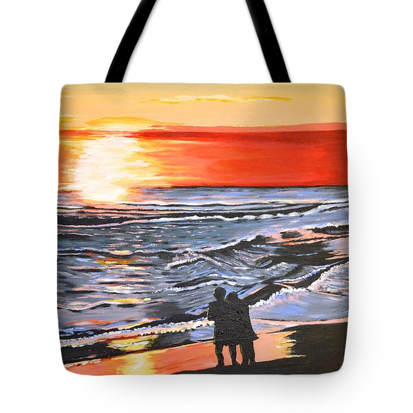 Tote Bag featuring the painting Love Is In The Air by Donna Blossom
