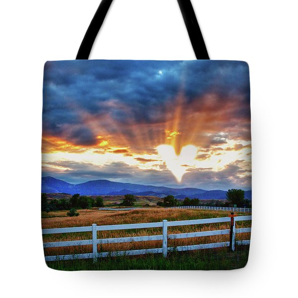 Tote Bag featuring the photograph Love Is In The Air by James BO Insogna