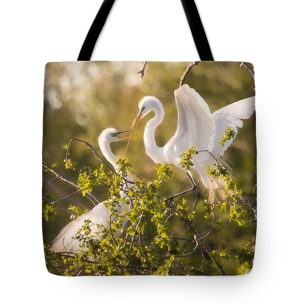 Love Is In The Air Tote Bag by Kelly Marquardt