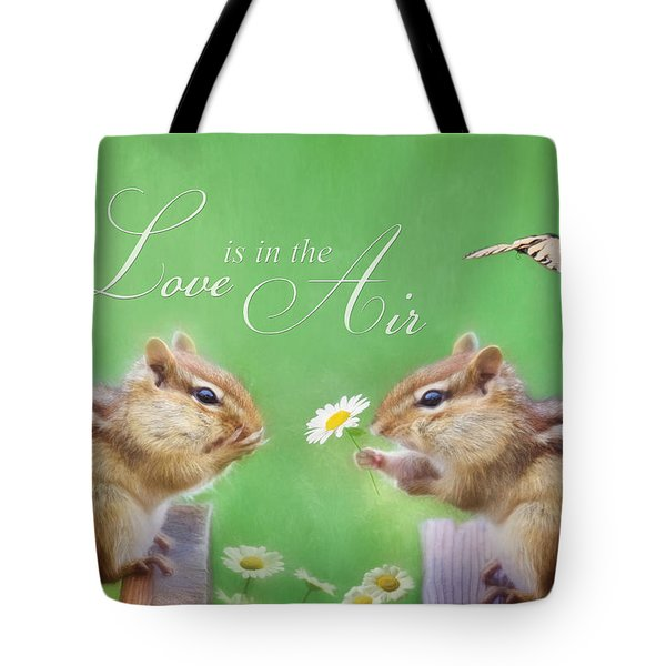 Love Is In The Air Tote Bag by Lori Deiter