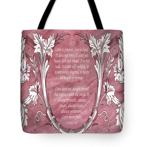 Tote Bag featuring the digital art Love Is Kind by Angelina Vick
