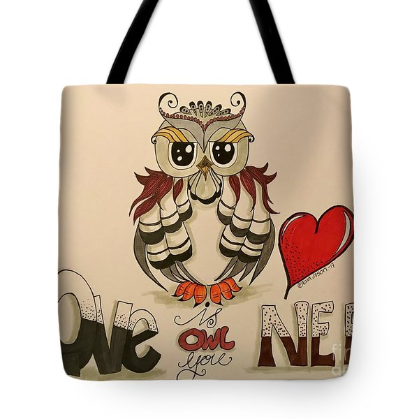 Love Is Owl You Need Tote Bag