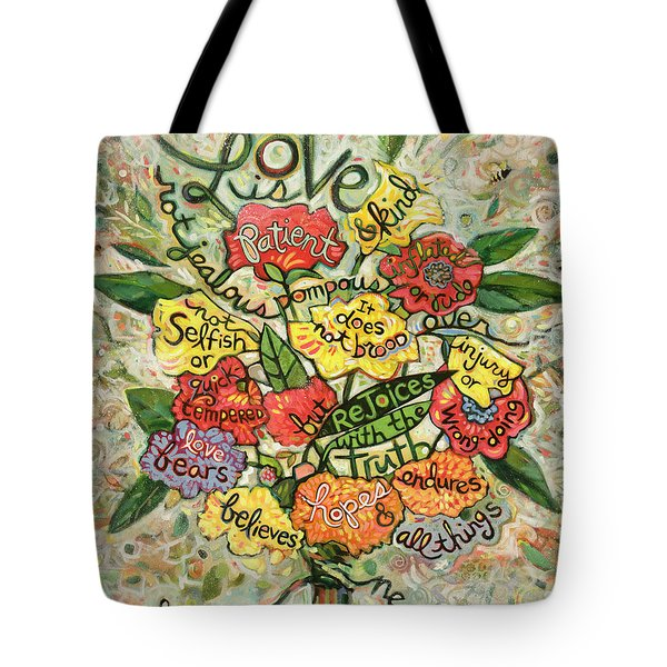 Love Is Patient Tote Bag