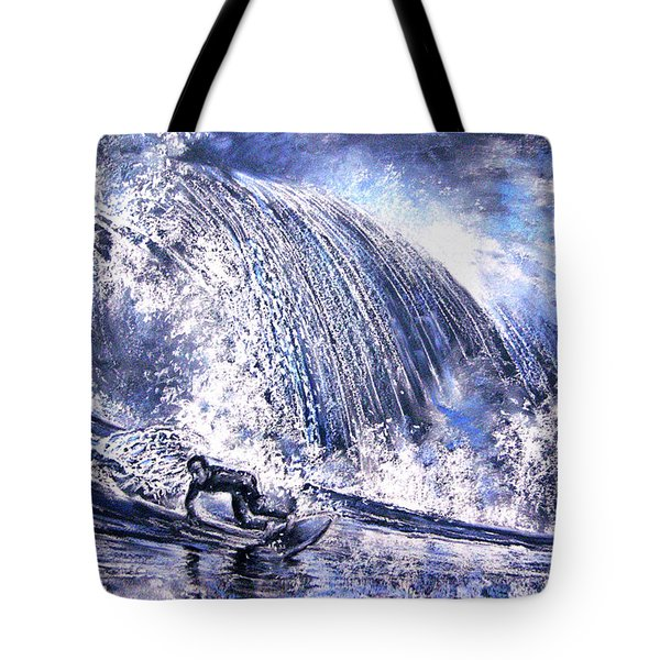 Love Is The Seventh Wave Tote Bag by Miki De Goodaboom