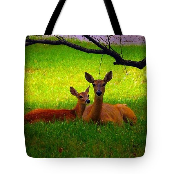 #love It When These Two Are On My Front Tote Bag