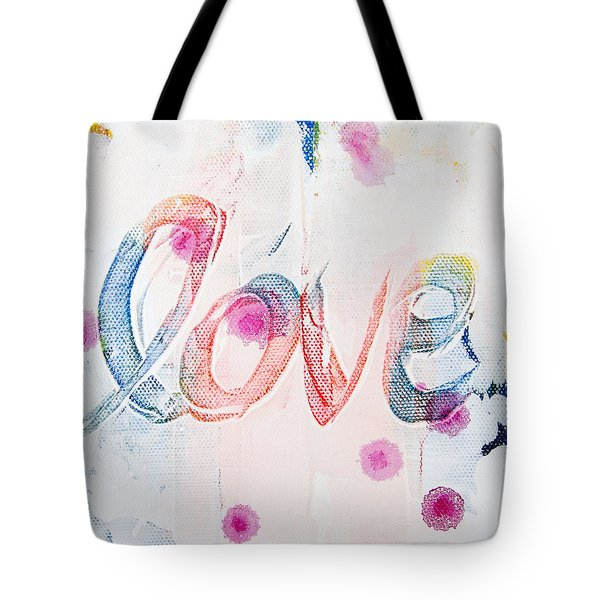 Tote Bag featuring the painting Love by Jocelyn Friis