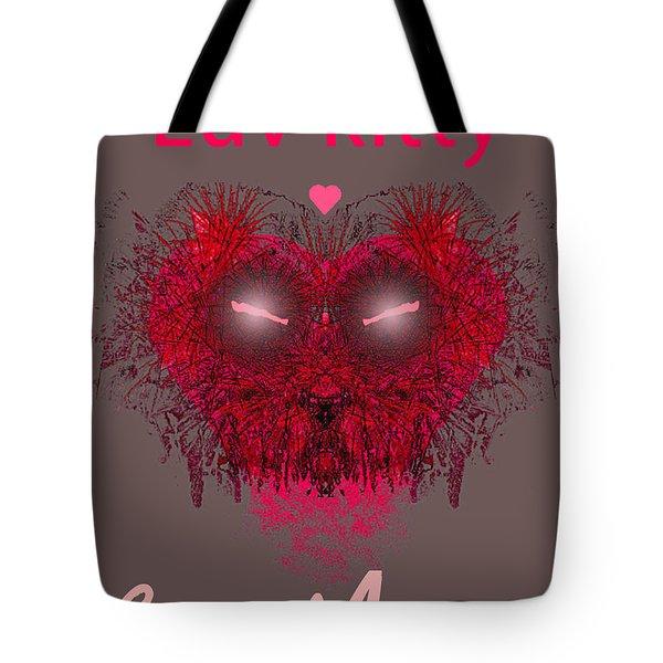 Love Kitty Be Mine Tote Bag