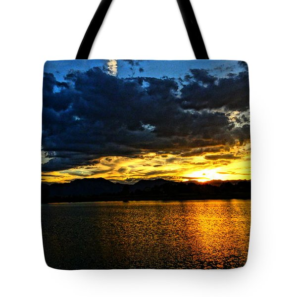 Tote Bag featuring the photograph Love Lake by Eric Dee