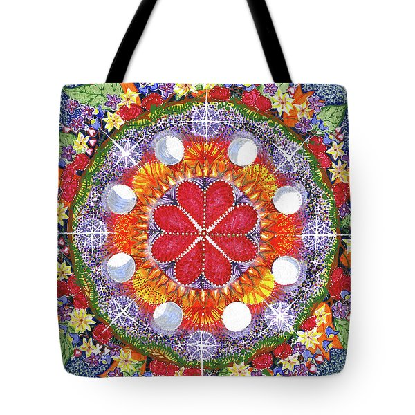 Tote Bag featuring the painting because Love Lasts for Eternity #1 by Kym Nicolas