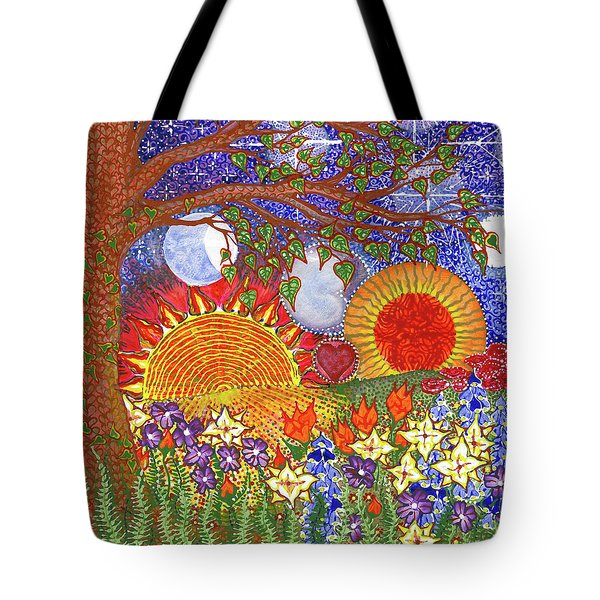 Tote Bag featuring the painting  Because Love Lasts For Eternity #2 by Kym Nicolas