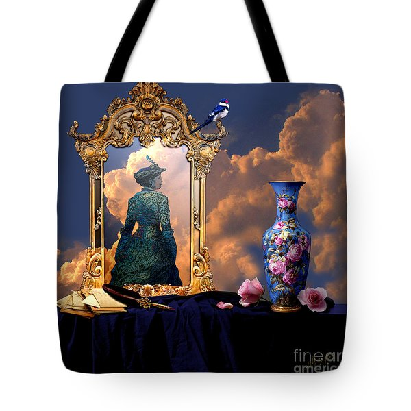 Tote Bag featuring the digital art Love Letters by Alexa Szlavics