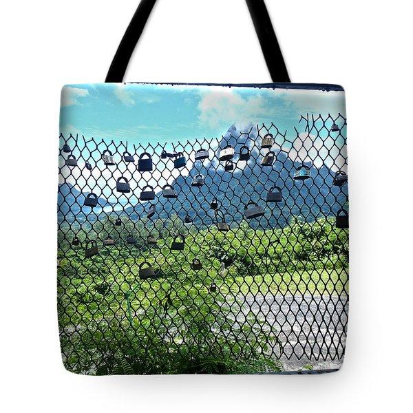 Love Locks In Moorea Tote Bag