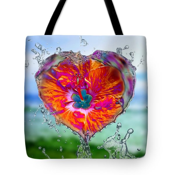 Love Makes A Splash Tote Bag