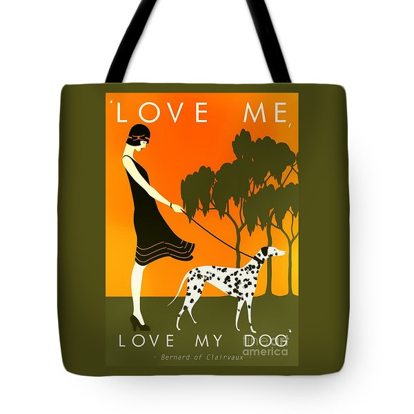 Love Me Love My Dog - 1920s Art Deco Poster Tote Bag