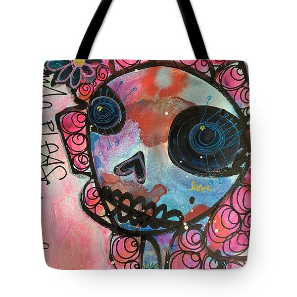 Love Me Please Tote Bag by Laurie Maves ART
