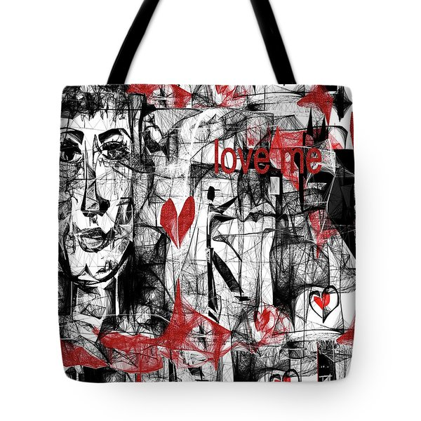 Love Me  Tote Bag by Sladjana Lazarevic